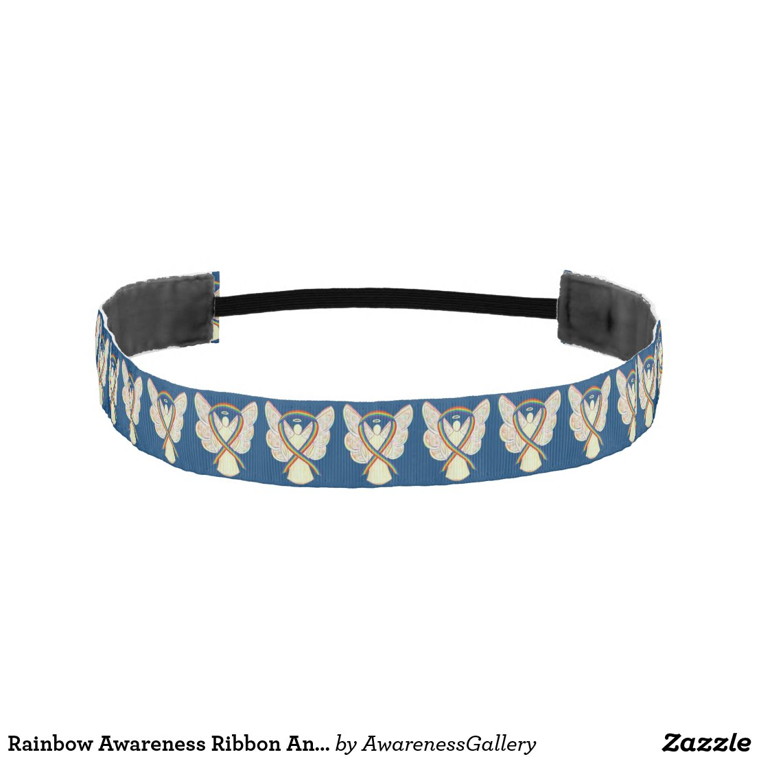 Rainbow Awareness Ribbon Angel Custom Headband