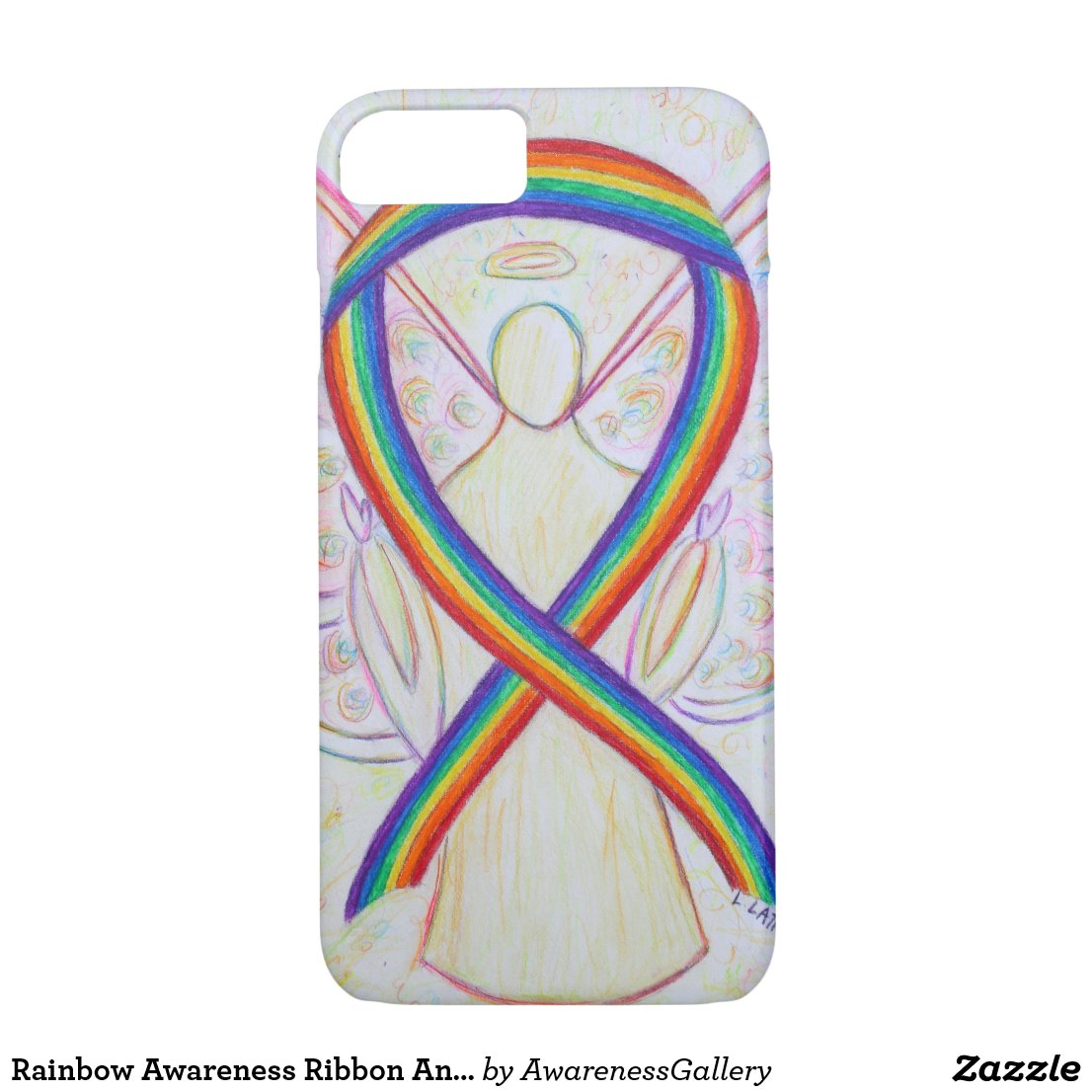 Rainbow Awareness Ribbon Angel Custom iPhone7 Case
