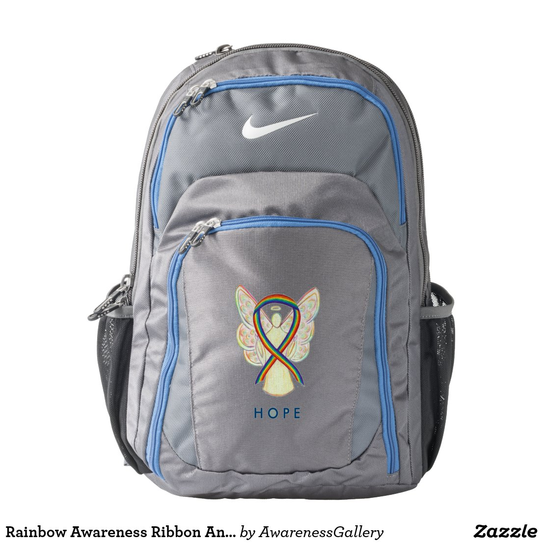 Rainbow Awareness Ribbon Angel Customized Backpack