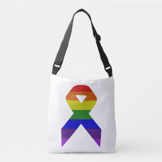 Rainbow Awareness Ribbon Crossbody Bag
