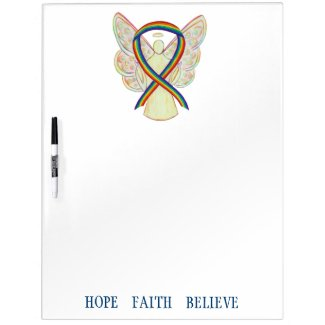 Rainbow Awareness Ribbon Custom Dry Erase Board