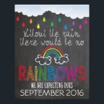 "Rainbow Baby Announcement Photo Prop Sign, 11 x 14<br><div class=""desc"">A 11&quot; x 14&quot; Rainbow Baby Pregnancy Announcement Photo Prop Sign designed especially for announcing a pregnancy after miscarriage or infant loss. Use the sign as a prop in a rainbow baby maternity photo shoot and send out the pictures to friends and family to announce your bundle of hope.</div>"