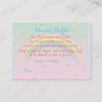 Rainbow Baby Diaper raffle ticket