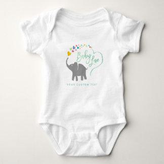 Rainbow Baby, Elephant Baby Love Romper