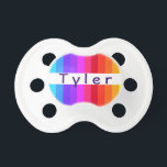 """Rainbow Baby Pacifier<br><div class=""""desc"""">Personalize this elegant pacifier with your baby&#39;s name.</div>"""