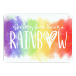 Rainbow Baby Pregnancy Announcement Card
