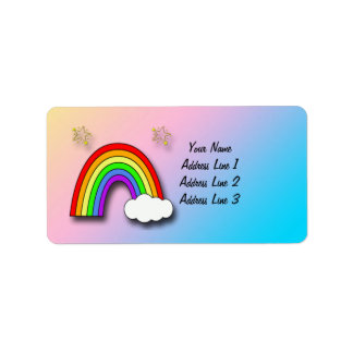 Rainbow Baby Shower Address Labels