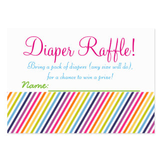 Rainbow Baby Shower Diaper Raffle Tickets Large Business Cards (Pack Of 100)