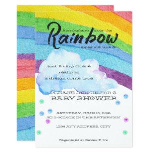 Rainbow Baby Invitations Zazzle