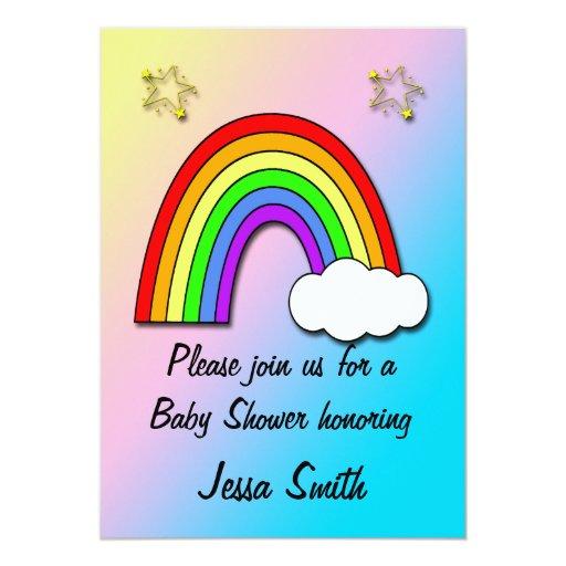 rainbow baby shower invitations zazzle