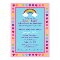 Rainbow Baby Shower Invitations