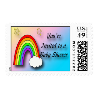 Rainbow Baby Shower Postage