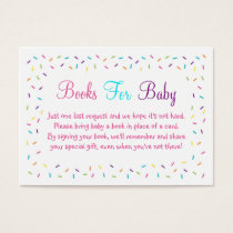 Rainbow Baby Sprinkle Book Request Cards