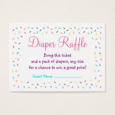 Rainbow Baby Sprinkle Diaper Raffle Tickets at Zazzle