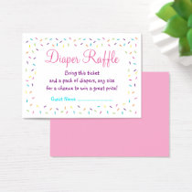Rainbow Baby Sprinkle Diaper Raffle Tickets