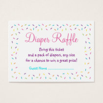 Rainbow Baby Sprinkle Diaper Raffle Tickets