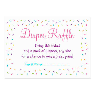 Rainbow Baby Sprinkle Diaper Raffle Tickets Large Business Cards (Pack Of 100)