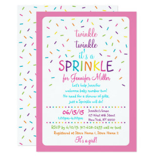 Rainbow Baby Sprinkle Invitations