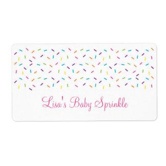 Rainbow Baby Sprinkle Label