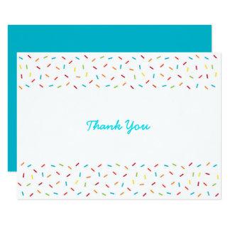Rainbow Baby Sprinkle Thank You Card