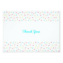 Rainbow Baby Sprinkle Thank You Cards