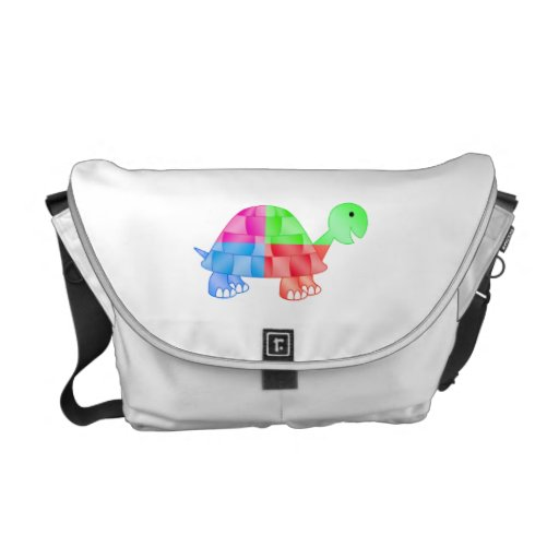Rainbow baby turtle courier bags
