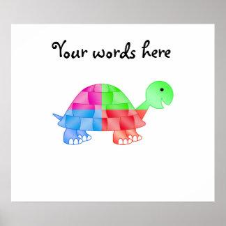 Rainbow baby turtle poster