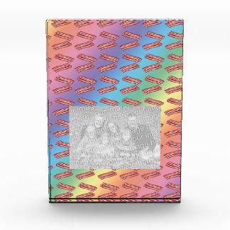 Rainbow bacon pattern acrylic award