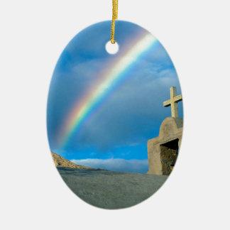 Rainbow Bahia De Los Angeles Mexico Ceramic Ornament