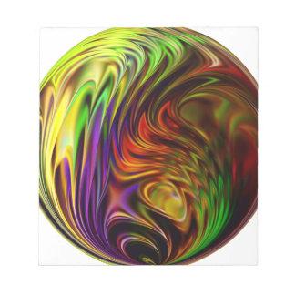 Rainbow Ball Notepad