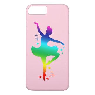Rainbow Ballerina in Silhouette with Stars iPhone 7 Plus Case