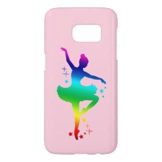 Rainbow Ballerina in Silhouette with Stars Samsung Galaxy S7 Case