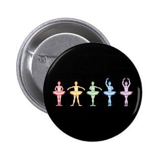 Rainbow Ballerinas Button