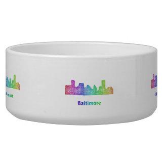 Rainbow Baltimore skyline Bowl