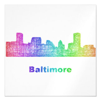 Rainbow Baltimore skyline Magnetic Card