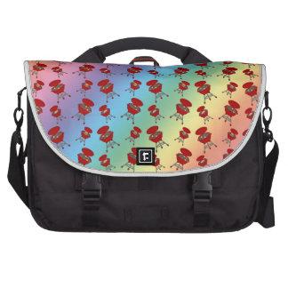 rainbow barbeque pattern laptop commuter bag