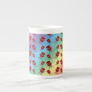 rainbow barbeque pattern bone china mugs