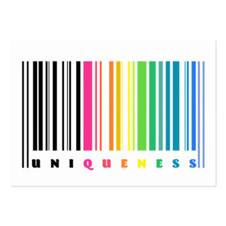 Rainbow Barcode Business Cards