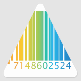 Rainbow Barcode Triangle Sticker