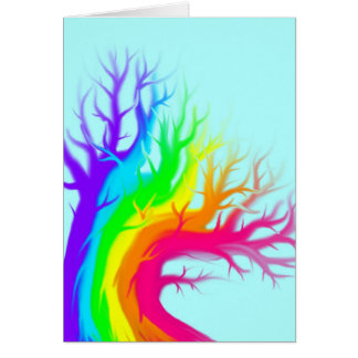 Rainbow Bare Tree Card