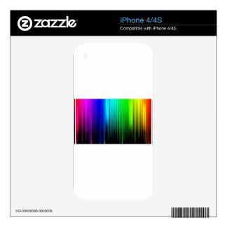RAINBOW BARS iPhone 4 DECALS