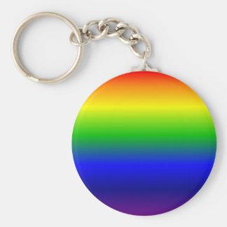 Rainbow Basic Round Button Keychain