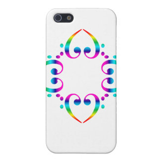 Rainbow Bass Clef Cluster case for iphone 4