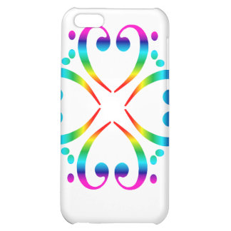 Rainbow Bass Clef Flower case for iphone 4