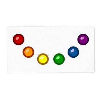 Rainbow Baubles Label