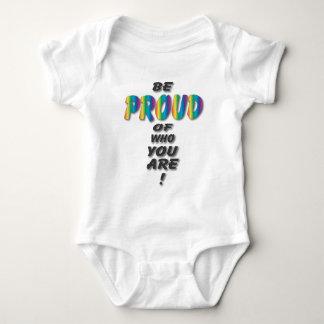 Rainbow Be Proud. Baby Bodysuit