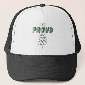 Rainbow Be Proud (looks best on Black) Trucker Hat