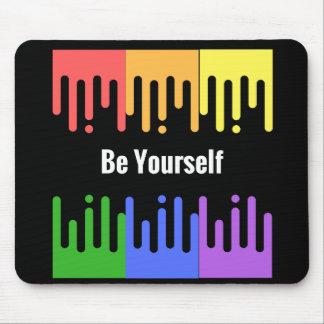 "Rainbow ""Be Yourself"" Mousepad"