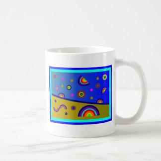 Rainbow Beach At Night--Abstract Mug