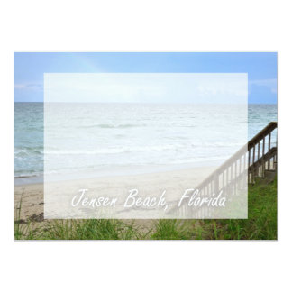 Rainbow Beach Steps Jensen Beach Florida 5x7 Paper Invitation Card